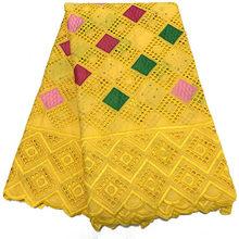 NIAI горячая Распродажа, 100% хлопок, африканская сухая кружевная ткань, нигерийская кружевная ткань, 2020, Высококачественная швейцарская Вуаль ...(Китай)