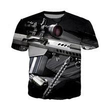 Аниме 3D пистолет печать футболка Забавные Рубашки для женщин мужчин мужская летняя футболка Harajuku топы забавная Футболка модная уличная оде...(Китай)