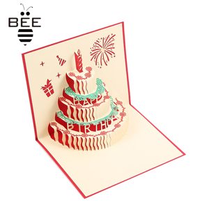 funny design pop up birthday cards for baby girls and boys