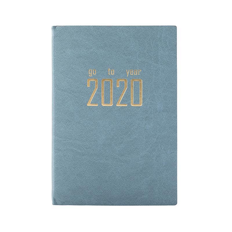 A5 записная книжка с обложкой из искусственной кожи, 2020 планировщик, ежедневник, расписание, записная книжка s, дневник, канцелярские принадл...(Китай)