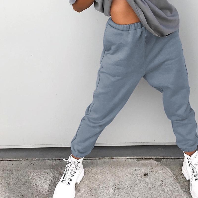New design casual high waist sport streetwear sweatpants jumpsuits 2020 sweat pants joggers women