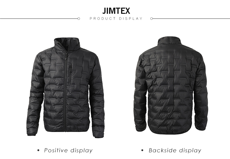 New arrival seamless welded thermoball packable men grey duck down jacket