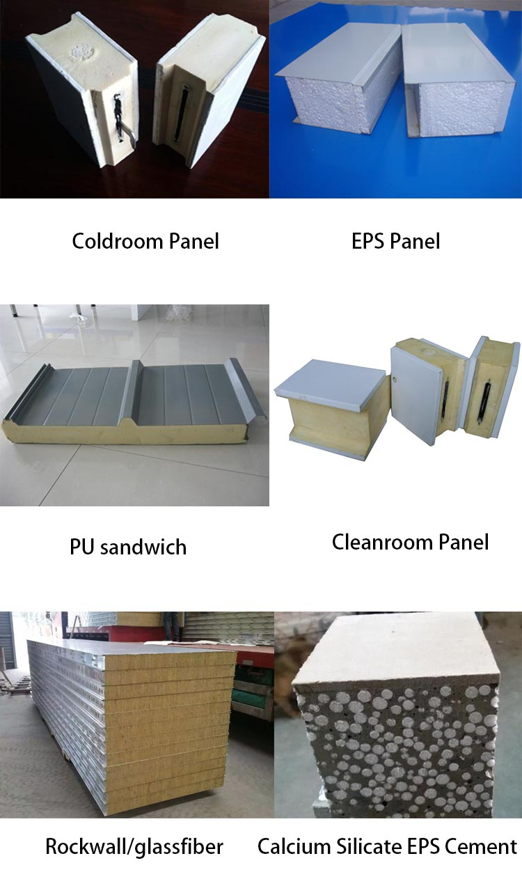 120mm polyurethane wall pu foam steel sandwich panel for cold room