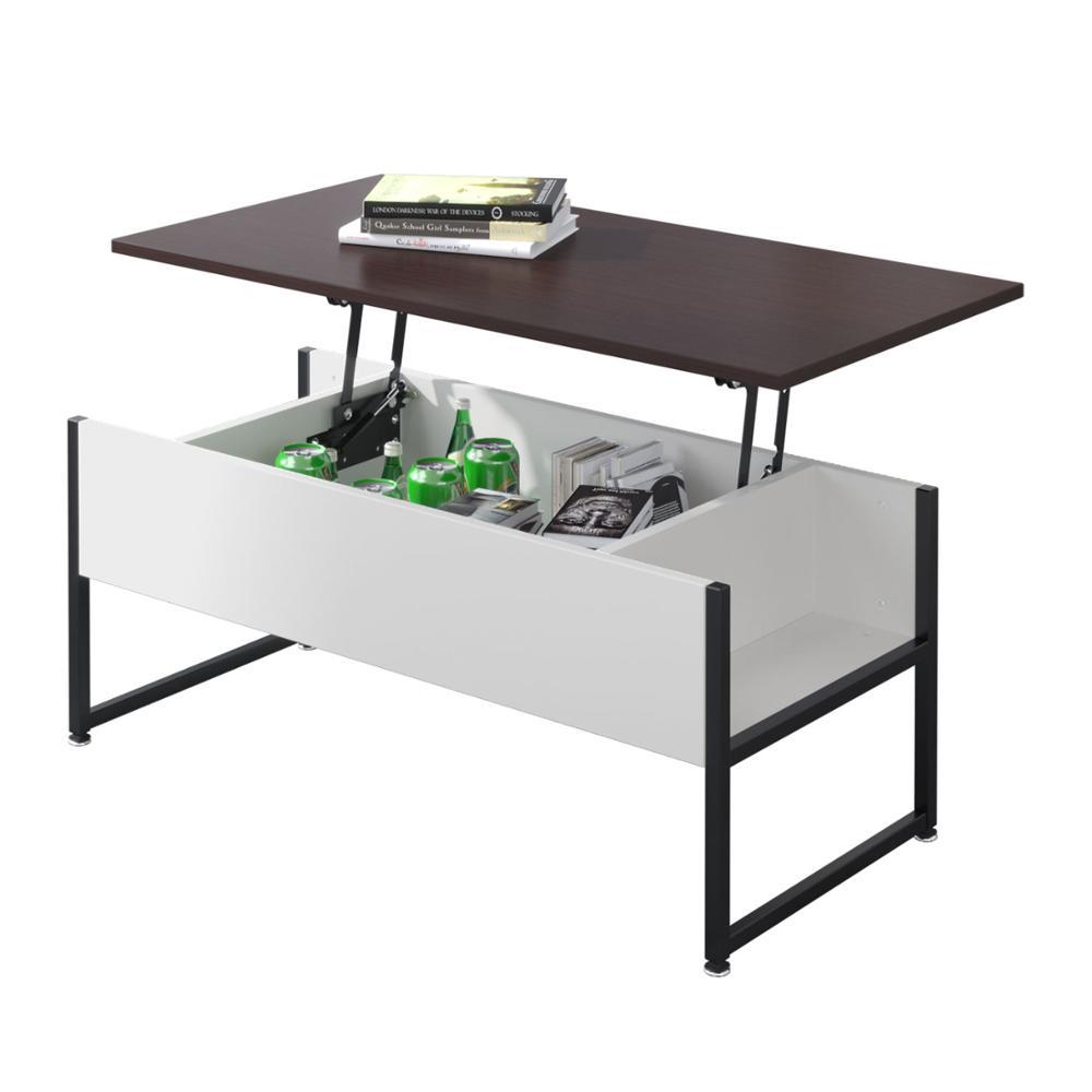 Europe Stock Multifunction Height Adjustable Living Room Furniture Wood Lift Top Coffee Table