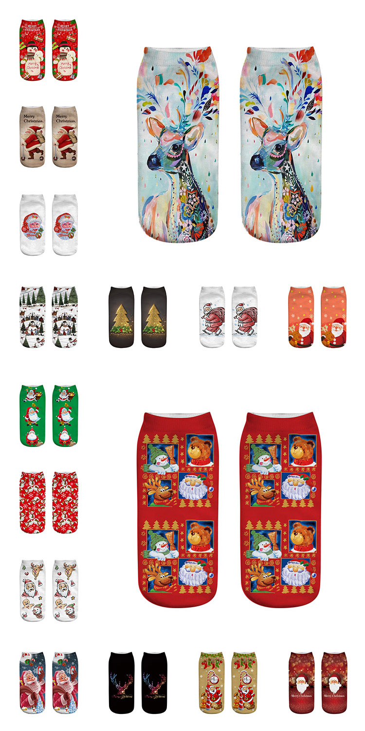 Promotion Product Family Gift Christmas Cotton Socks