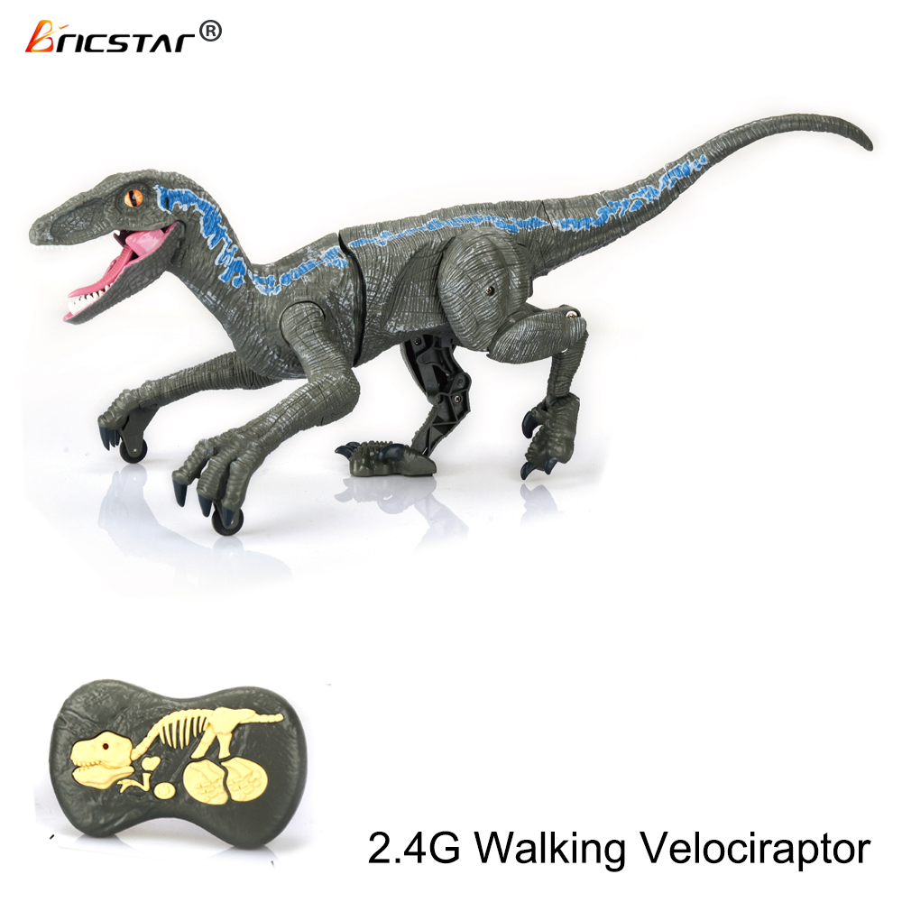 Bricstar new style 2.4G simulation walking B/O remote control dinosaur toys, rc dinosaur toys with simulation 3D eyes