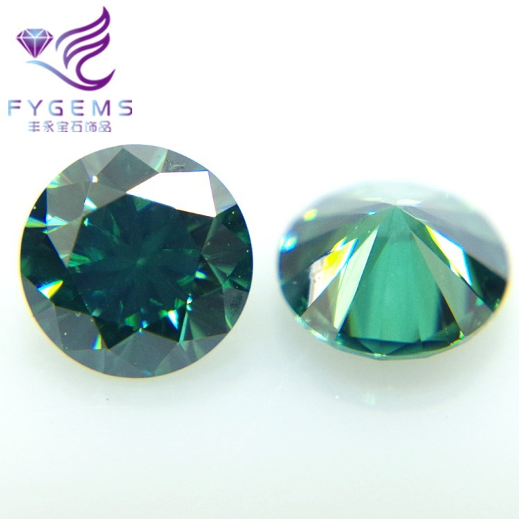 Green Color Brilliant Cut Moissanite <strong>Diamond</strong> graceful Fashion classic 6.5mm-12mm SIC