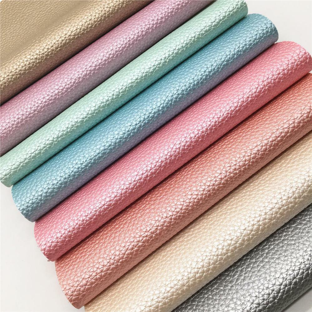 A4 Pearly Lustrous Pearlized Lychee Embossed Shiny Faux <strong>Leather</strong> Sheet Fabric Vinyl For Shoes Bag Bow Crafting