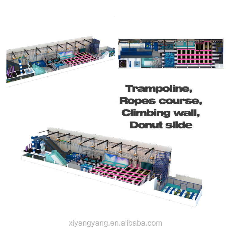 Trampoline Indoor Park With Climbing wall