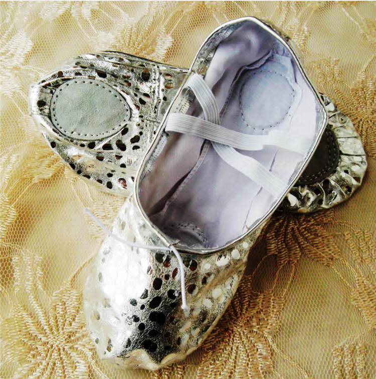 2020 New Style Folding Women Soft PU Ballet Dancing Shoes With Bag