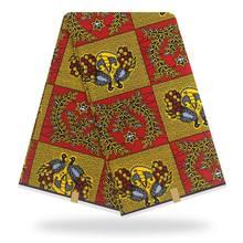 2020 оригинальная Настоящая Африканская ткань с восковой печатью, ткань для свадебного платья, африканская ткань, 100% хлопок, ткань Анкары, вос...(China)