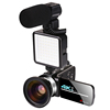 Video Camera + Wide-angle lens + LED Light + Microphone