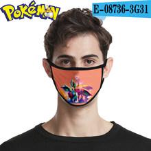 Горячая 1 шт Аниме Pokemon Pocket Monsters маска с изображением Пикачу 3d Анти-туман Пылезащитные Модные высококачественные многоразовые маски(Китай)