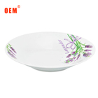 Newest design and hot selling porcelain dinner plates white ceramic dishes for food