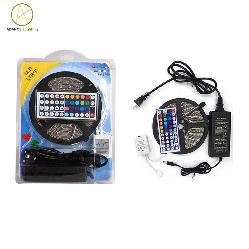 Wholesale Led Lighting 5050 RGB LED Strip Light + Power Adapter + 24 Key Remote LED Strip Kit