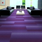 Level Loop exhibition carpet high-end New design colorful commercial rugs with lightly color carpet tiles