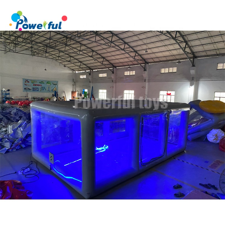 Led lighting inflatable car capsule inflatable car shelter storage bubble car tent