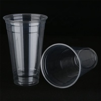 500ml 16 oz plastic clear juice milk tea plastic cup wholesale disposable pet drink cup