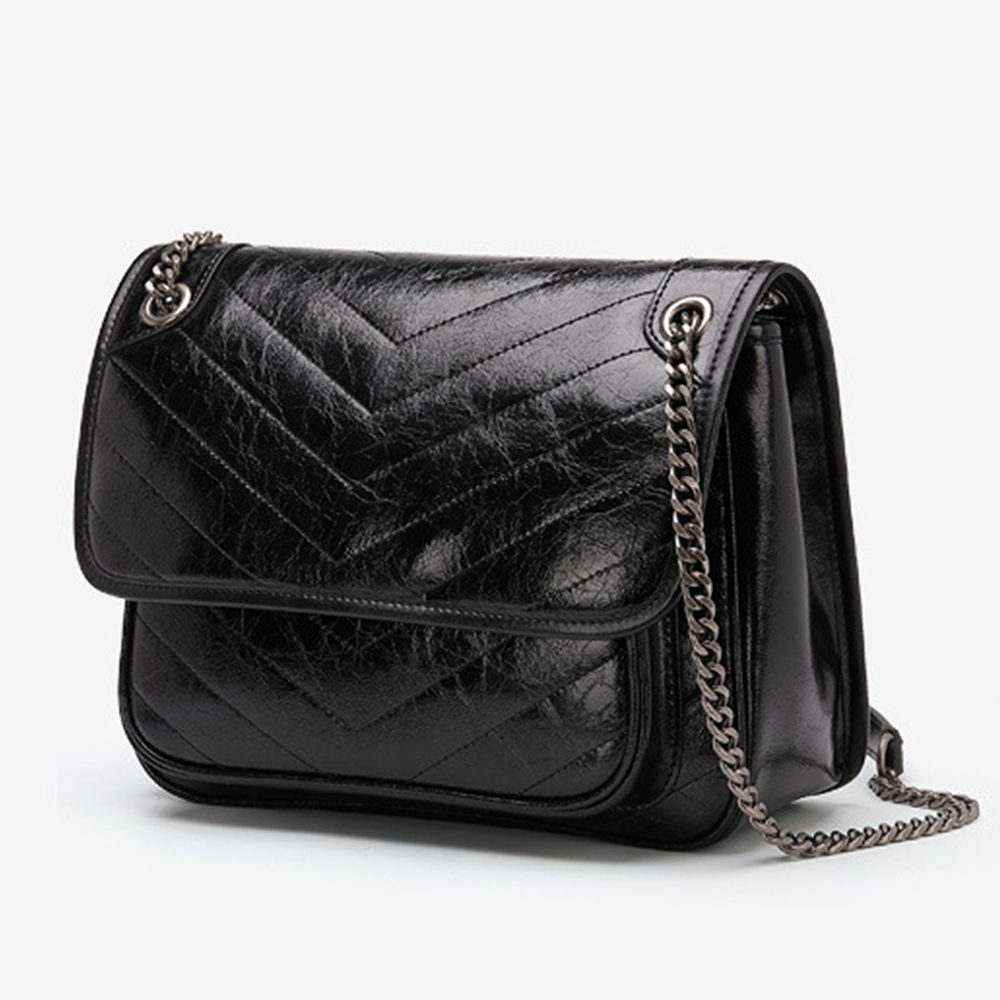 Wholesales Split Leather Satchel Hobo Custom Full-Grain Cow Leather Evening Purses Dermis Shoulder Bag