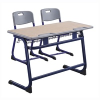 Education Furniture School Double Desk And Chair