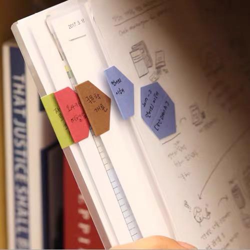 Lembrança de papel magnético marcador dobrável