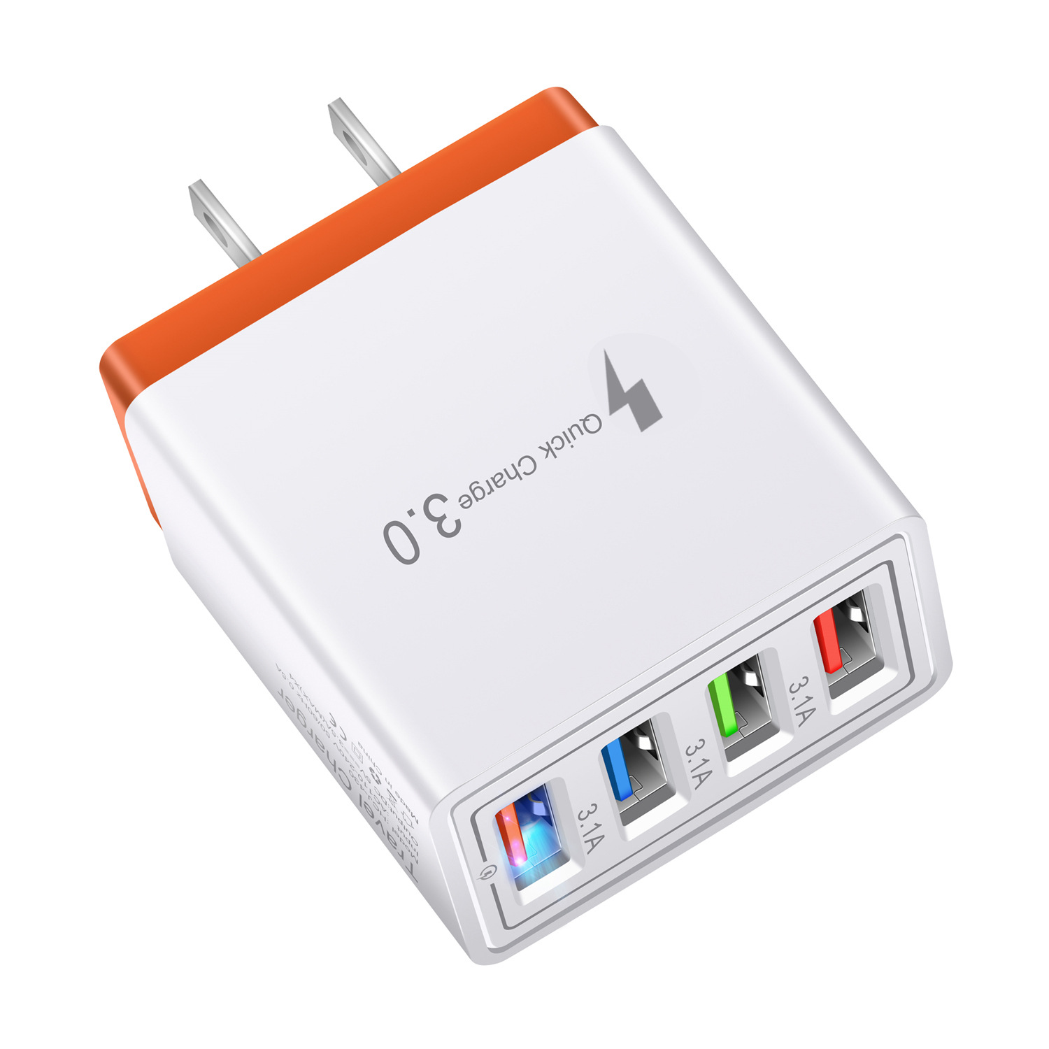 Universal Dinding Soket 4 Port USB Charger QC 3.0 Cepat Ponsel Travel Charger Dinding US/EU/UK plug Charger untuk iPhone