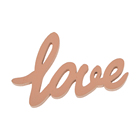 Colourful laser out Wooden Love Letters Decor mini Craft Scrapbook Confetti Wedding Party Table Decorations Valentine's Day