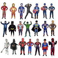 Halloween children's clothing beauty team bat spiderman boy kid jumpsuit anime cosplay costume