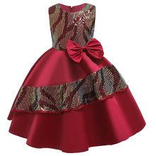BGW/Коллекция 2020 года, атласное платье трапециевидной формы с круглым вырезом и блестками, платье с цветочным узором для девочек без рукавов ...(Китай)