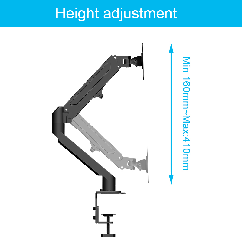2020 New Design Gas Spring Monitor Arm Lcd Mount Arm for 10 to 32 Inches Computer Screen