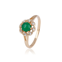 14744 xuping jewelry elegant rings ladies wholesale 18k gold plated emerald simple rings