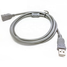 Grey usb 2.0 extended kabel male naar famale koperdraad usb extension voor computer lap top