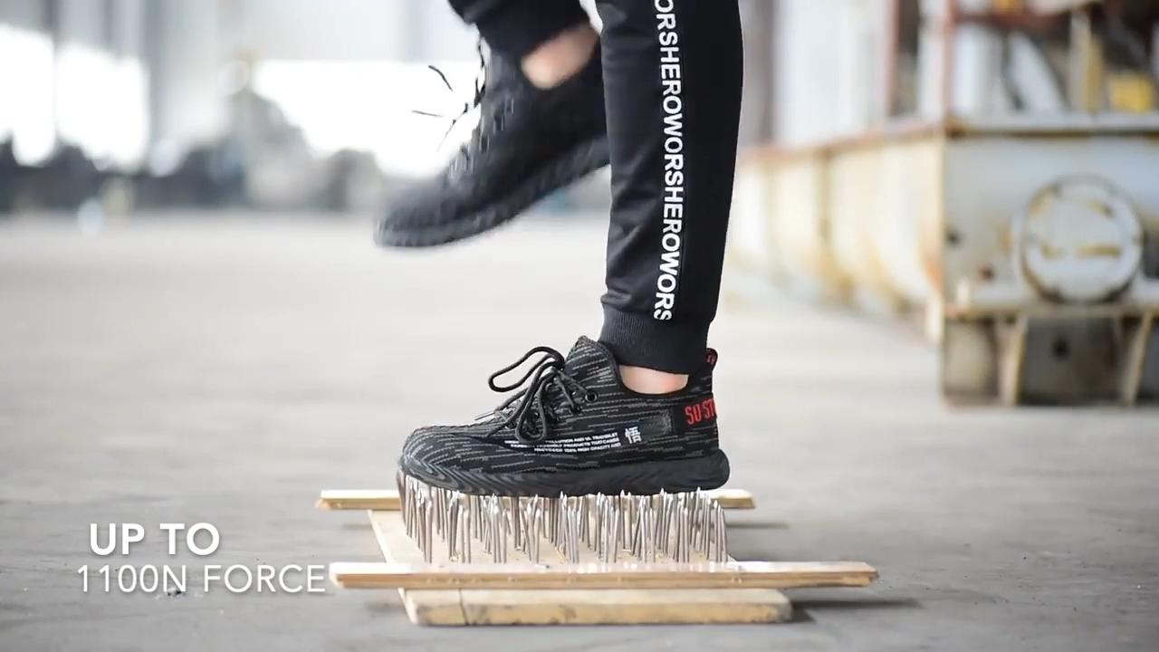Kustom Pria Komposit Topi Baja Kaki Sepatu Keselamatan Konstruksi Sepatu Bot