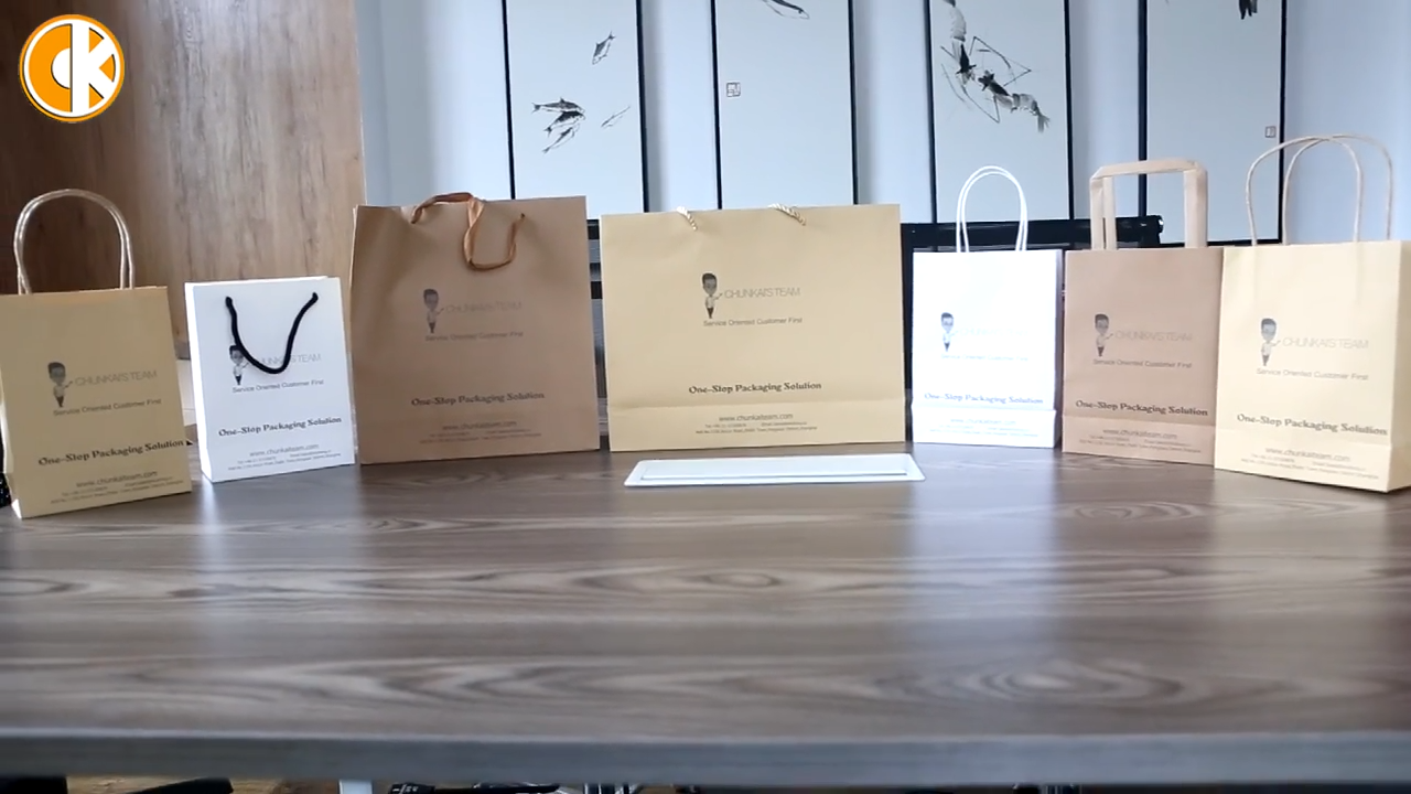 Custom Made Barato Promocional de Alta Qualidade Pequenos Sacos de Papel Marrom Kraft