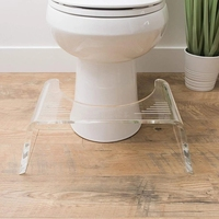 High Quality Squatty Acrylic Glass Slim 7-Inch Toilet Stool in Clear