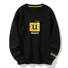 Autumn new style long-sleeved sweater custom printing men's round neck hoodie black trend clothes t-shirt