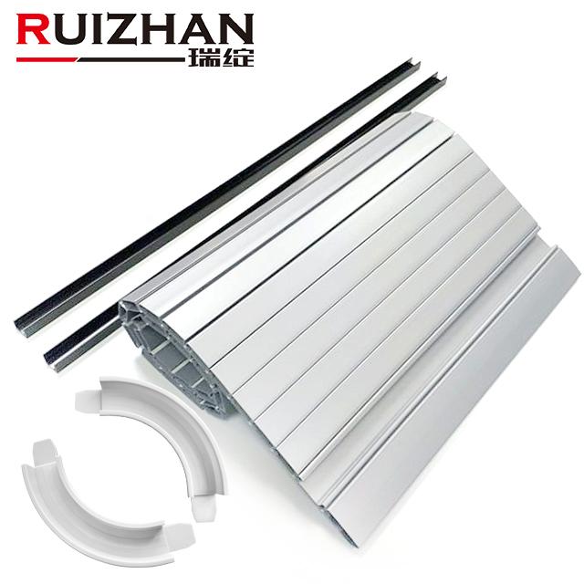 Furniture Kitchen Cabinet Plastic Roller Shutter Slats kit PVC ABS plastic tambour door slats