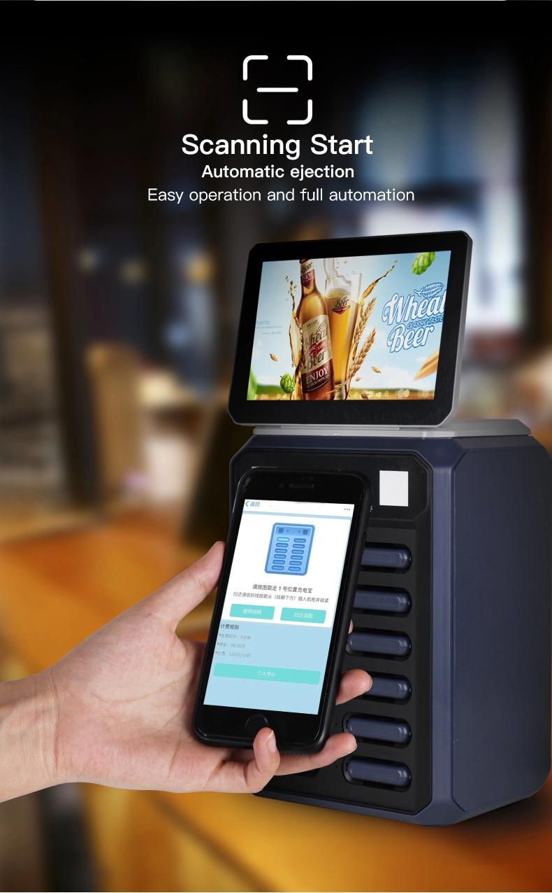 STW 12 Slots de aluguer de estação de banco de potência 5000mah powerbank móvel estação de carregamento para smartphones