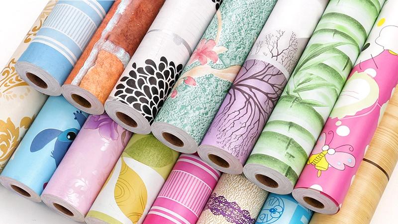 현대 한국어 장식 벽지 스티커 아름다운 비닐 벽 종이 벽지