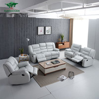 Wholesale leather lounge suite recliner sofa set with massage living room furniture