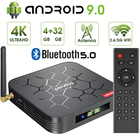 Tv box 2019 Pendoo X6 Pro android 9.0 tv box Allwinner H6 Android 2GB 16GB smart android box avec antenne wifi