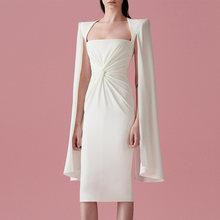 Женское платье-блейзер с накидкой, модельное дизайнерское роскошное Брендовое платье-карандаш средней длины, вечерние платья(Китай)