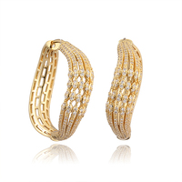 Openwork mesh earrings exaggerated fashion glamour woman jewelry