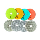 Logo Customization Marble 100mm 3 Step Diamond Granite Quartz Marble Polishing Pads Wet Or Dry Polishing Pads