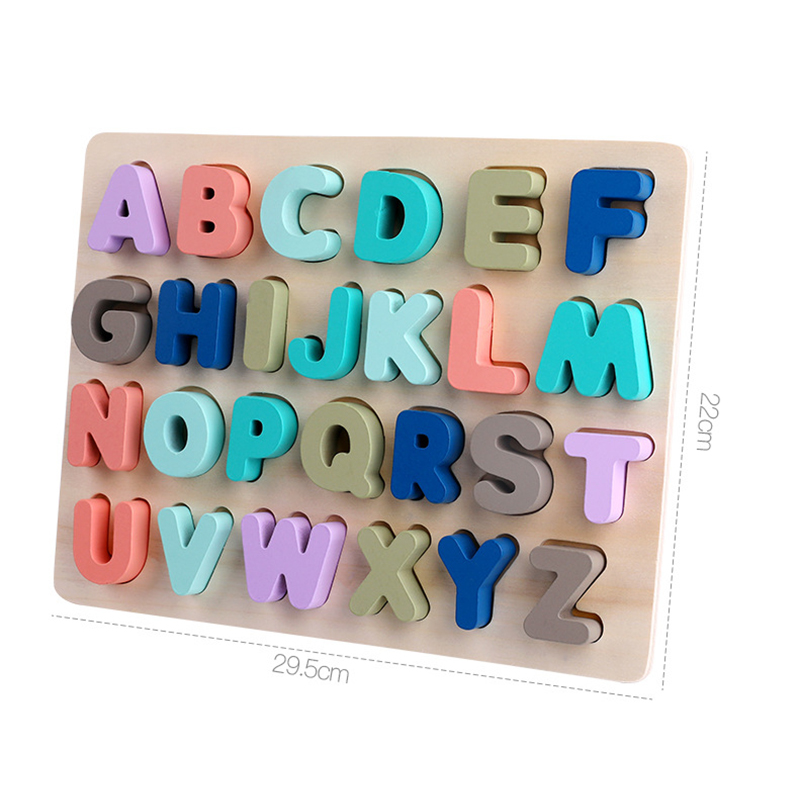 Cheap Price Macaron Colors Children Montessori Wooden Digital Letters and Shape Cognitive Board Early Childhood Educational Toys