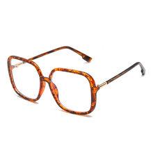 Негабаритный квадратный анти-синий свет очки рамка для женщин новые винтажные Ретро черные прозрачные большие очки мужские компьютерные п...(Китай)