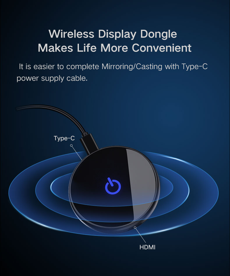4K Wifi Display Dongle Quad Core Miracast Airplay HDMI Transmitter untuk Android IOS Windows Mac