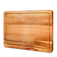 Large Reversible Multipurpose Thick Acacia Walut Hardwood Wood Chopping Block Cutting Board with Carving Block Juice Drip Groove