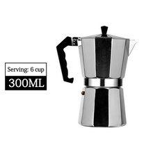 Алюминиевый горшок для мокки, кофеварка для мокко, черный кофе, Итальянский кофе, практичный подарок, легкая чистка #2(Китай)