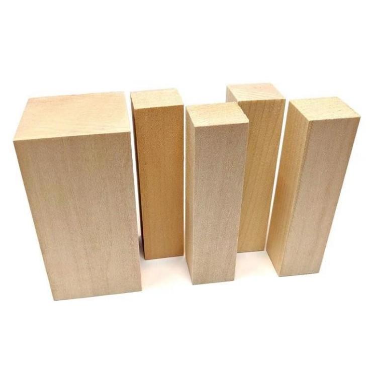 Aangepaste Grootte Basswood Blokken Voor Verkoop